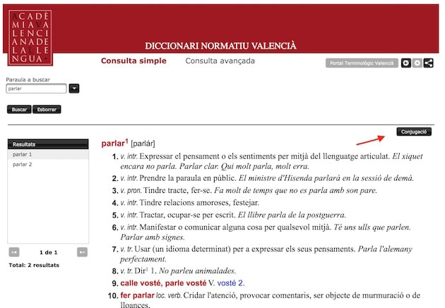 Conjugar-verbs-AVL